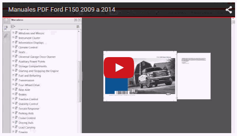 Vídeo Manuales Ford F150 2009 a 2014