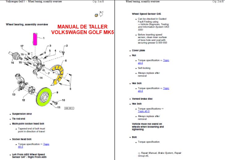 Manuales Volkswagen Golf