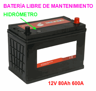 Batería libre de mantenimiento (Free Maintenance Battery)