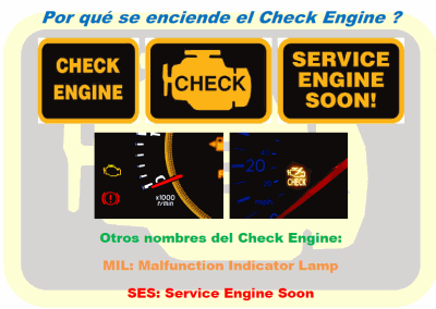 Por qué Check Engine enciende?