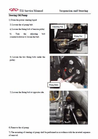 Owner Manual and Workshop Manual Chery Tiggo 1.6L, 1.8L, 2 ...