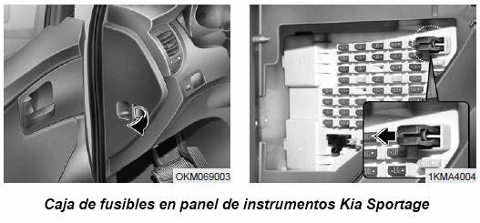 Caja Fusibles Panel Instrumentos Kia Sportage