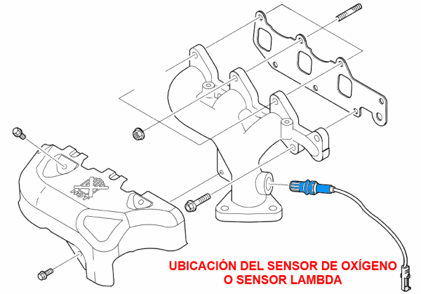 daewoo oxygen sensor location
